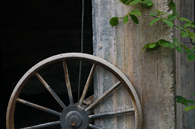 """A wheel in a disused factory in Odda, Norway. Friday 14 March 2016 Torgeir Rinke Bangstad will give the paper """"Building Times: Architecture and Material Memory"""" at CAS, Oslo."""