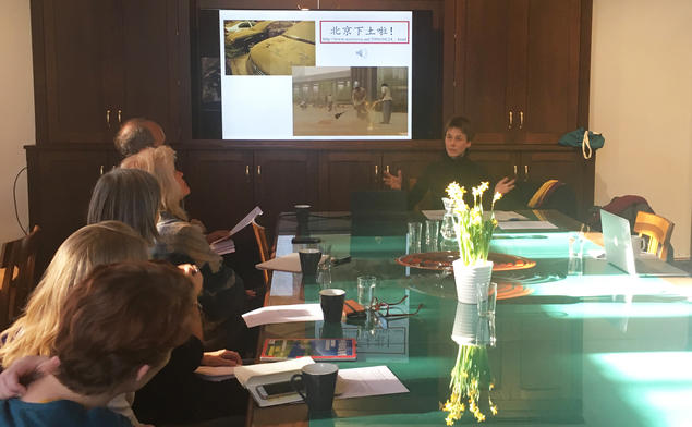 Dr. Susanne Stein gave the talk: From Desertification Alarm to 'Health Killer': Shifting Interpretations of Dust Storms in Contemporary China. CAS Oslo / Centre for Advanced Study / Senter for grunnforskning
