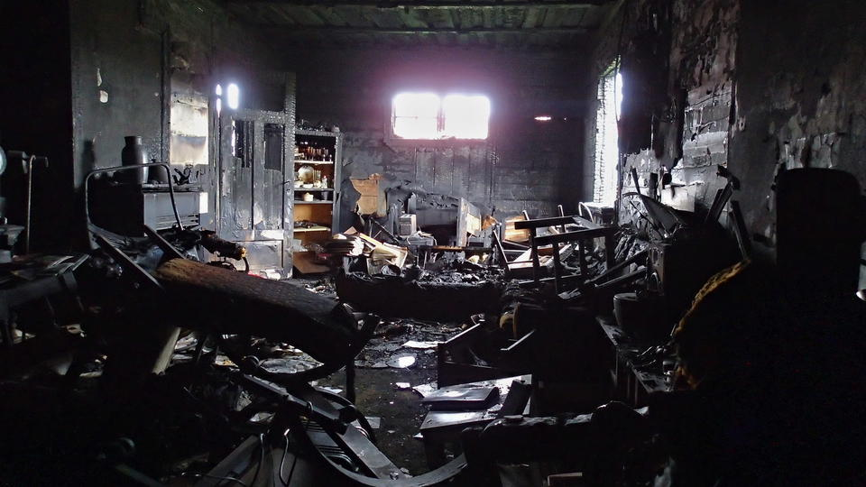 Hein B. Bjerck shared his reflections on the scorched things that survived a fire in his eighty-five-year-old uncle's home in 2013. Photograph: Hein B. Bjerck