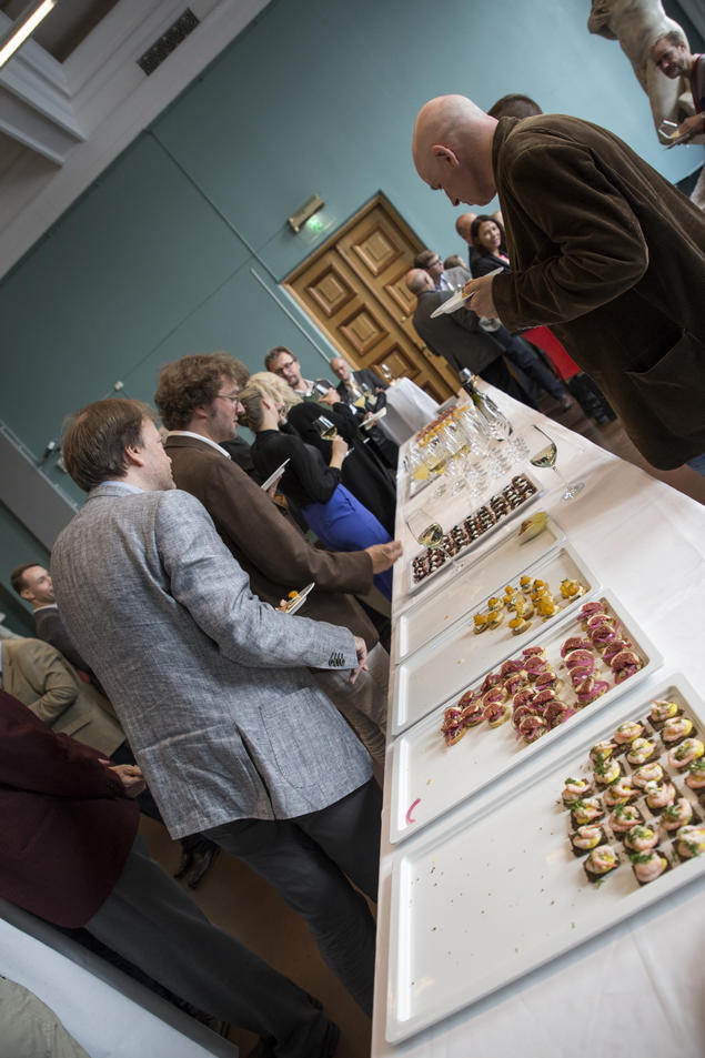 Scholars socialise during the opening of the 25th anniversary year. Photo: Camilla Kottum Elmar