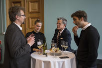 Scholars and members of the CAS Oslo administration socialise during the opening of the 25th anniversary year. Photo: Camilla Kottum Elmar