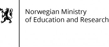 The logo of the Norwegian Ministry of Education and Research.