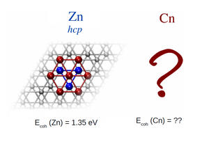 The lattice structure and cohesive energy of zinc.