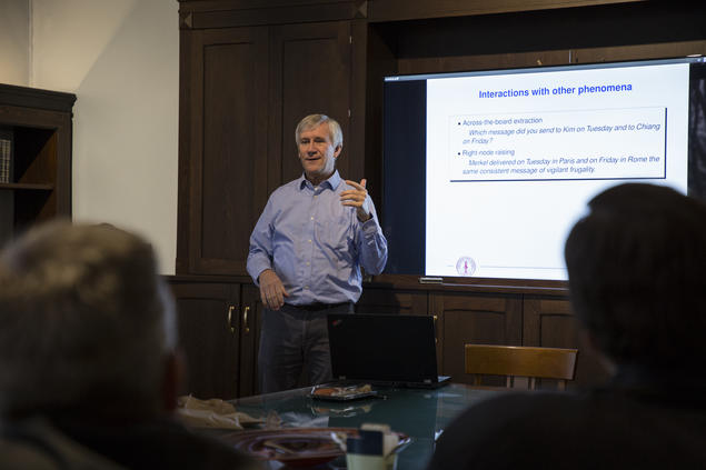 Dan Flickinger, a senior researcher at Stanford University, gives a lecture. Photo: Camilla K. Elmar
