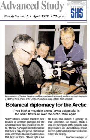 Article from CAS' April 1999 Newsletter titled 'Botanical diplomacy for the Arctic'.
