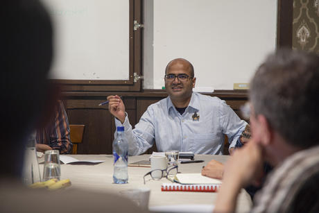 Former CAS Fellow, Bodhisattva Chattopadhyay, during his seminar at CAS in May 2019. Photo: Camilla K. Elmar, CAS