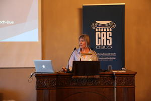 """Professor Mette Halskov Hansen opens the conference of the CAS project """"Airborne: Pollution, Climate Change, and New Visions of Sustainability in China"""" ,photo: Centre for Advanced Study (CAS)"""