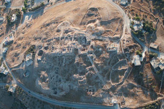 Caption:  Aerial view of Tall Ḥisbān. Courtesy of APAAME © Michael John Neville, Aerial Photographic Archive for Archaeology in the Middle East (APAAME)