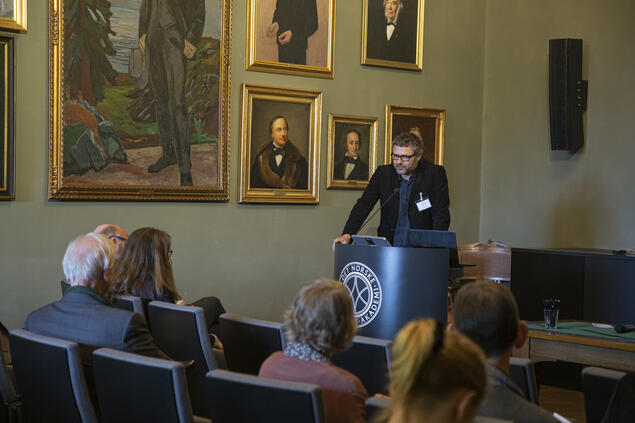 Espen Ytreberg, professor of media studies at the University of Oslo (UiO) during his year at CAS in 2018/2019. Photo: Camilla K. Elmar / Centre for Advanced Study (CAS)